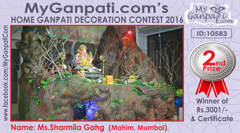 Myganpati_contest_winner_2017. Myganpati_contest_winner_2017.  Myganpati_contest_winner_2017. Eco Friendly Decoration